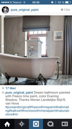 Vegg farge Lime Paint, Clawfoot Bathtub, Fresco, Pure Products, The Originals, Bathroom, Color, Washroom, Fresh