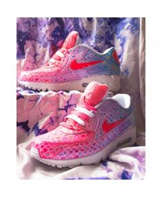 super popular 9b8ff 547c0 Nike Air Max 90 Candy Custom Pink Blue Sneakers Hot Sales