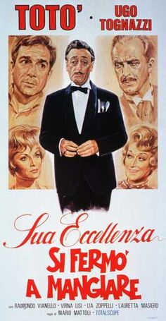 Sua Eccellenza si fermò a mangiare Vintage Movies, Vintage Posters, Go To The Cinema, Poster Drawing, Actor Studio, Hd Streaming, Film Movie, Caricature, Movies To Watch
