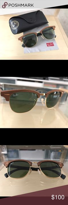 e1651981a2a Rayban Clubmaster Sunglasses Never worn and still in brand new condition!  Selling because the frame