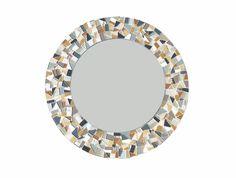 Custom Mosaic Mirror Round Wall Mirror Beach by GreenStreetMosaics