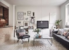 Wonderful Cool Ideas: Minimalist Home Tips Couch modern minimalist interior apartment therapy.Minimalist Home Tips Couch minimalist interior design white.Minimalist Home Tips Couch. Apartment Interior, Decor, Interior Design, House Interior, Dream Decor, Living Room Scandinavian, Interior, Cozy House, Home Decor