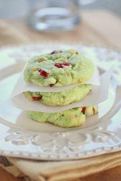 Cranberry pistachio cookies   Just a good recipe