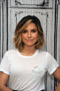pinterest: COCOMO Sophia Bush Sophia's hair color looks more natural than standard foil highlights would on her short hair, and she can protect it the same way as before–make sure you use a color-protecting shampoo and conditioner, and plenty of heat protectant when styling looks like these. - Redbook.com