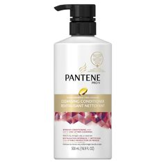 UPDATE:  I like the regular volumizing conditioner for cleansing.  This is too heavy for my fine hair.    PANTENE PRO-V makes a small line of cleansing conditioners, but only for color treated, or damaged hair.  So, I bought the color treated variety. It's thick formula has a strong tea tree fragrance.  It cleans well and conditions great.       The formula is heavier than L'Oreal and Salon Grafix, with more conditioning.  Whether this will lead to build-up, is yet to be seen.