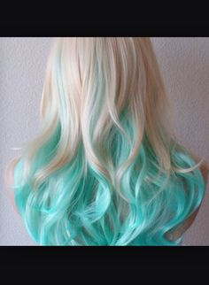 Baby blue mixed with light blonde