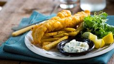 Classic beer-battered fish and chips
