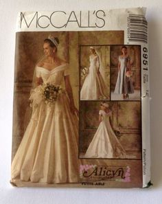 McCalls Pattern 6951 Alicyn Bridal Wedding Gown Bridesmaid Size 12 Uncut 1994 | eBay