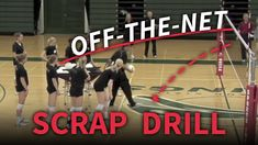 Off-the-net scrap drill - The Art of Coaching Volleyball Volleyball Warm Ups, Volleyball Passing Drills, Volleyball Drills For Beginners, Volleyball Skills, Volleyball Practice, Volleyball Setter, Volleyball Games, Volleyball Training, Volleyball Workouts