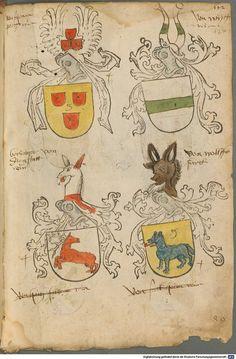 Tirol, Anton: Wappenbuch Süddeutschland, Ende 15. Jh. - 1540 Cod.icon. 310 Folio 127r