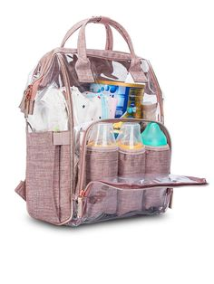 Women Transparent Clear Jelly Patchwork PVC Mommy Bag Backpack Handbag is fashionable and cheap, come to NewChic to see more trendy Women Transparent Clear Jelly Patchwork PVC Mommy Bag Backpack Handbag online. Handbags Online, Online Bags, Baby Girl Diaper Bags, Transparent Bag, Outdoor Backpacks, Vintage Backpacks, Travel Handbags, Bag Sale, Backpack Bags