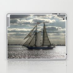 Sailing in the evening Laptop & iPad Skin by Angelika Kimmig - $25.00