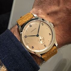 Last appointment of #Baselworld for me. The overall trend of this year has definitely been the vintage focus with re-editions of historical pieces. This Longines Heritage 1945 at 40mm is one of the best in my opinion and comes with a suede strap that really compliments the dial. #menswear #style #inspiration #longines #heritage #baselworld2017 Trendy Watches, Cool Watches, Rolex Watches, Men's Rolex, Watches For Men, Omega Watch, Mens Fashion, Photo And Video, Hui