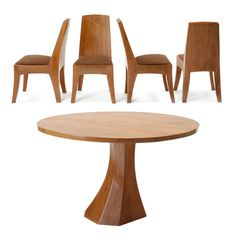 rudolf steiner designed table and chairs (1930)