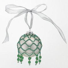Free Beaded Christmas Ornament Patterns | Netted Christmas ... by BeadSphere | Other Pattern
