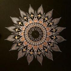Grace rowan art little quick mandala photo art show у 201 Sunflower Tattoo Meaning, Sunflower Tattoo Sleeve, Sunflower Tattoo Shoulder, Sunflower Tattoo Design, Dotwork Tattoo Mandala, Sunflower Mandala, Zeina, Circle Art, Mandala Design