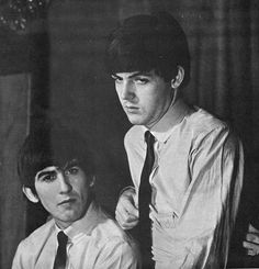 George and Paul photographed by Ringo