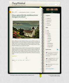 Diary WordPress Theme - Download it for free from Site5