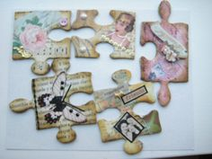 Altered puzzle pieces (first of 4 sets)