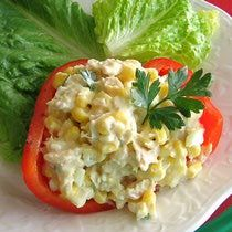 Romanian Corn and Tuna Salad Recipe - Porumb şi Salată de Ton