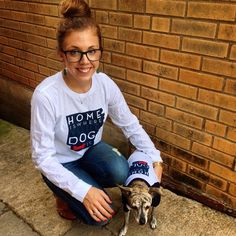 We now have matching home is where your hog is tees for humans and furry friends!