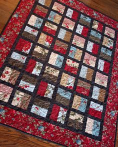 Lap Quilt Baby Quilt Wallhanging in Moda by MulberryPatchQuilts, $125.00