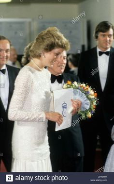 June 1986: Princess Diana the Princess of Wales at the NEC for the Prince's Trust Charity concert in Birmingham.