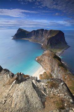 Måstadfjellet, Værøy Island, Norway.