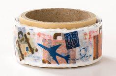 Travel - Prime Nakamura / Decogata Series - Japanese Die Cut Washi Masking Tape - Kawaii Collage, Gift Wrapping - JapanLovelyCrafts