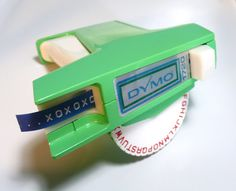 "Do you remember getting one of these and you just ""HAD"" to label everything.  And you were like, ""Um.. Mom?  I need another roll of tape...."""