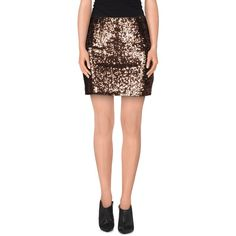Wyldr Mini Skirt ($54) ❤ liked on Polyvore featuring skirts, mini skirts, cocoa, mini skirt, zipper skirt, mini tube skirt, sequin skirt and short skirts
