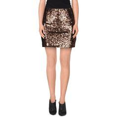 Wyldr Mini Skirt ($54) ❤ liked on Polyvore featuring skirts, mini skirts, cocoa, mini skirt, zipper skirt, mini tube skirt, sequin skirt and short skirts