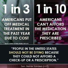 This. My healthcare plan is don't get sick and when I do...hope for the best. Bernie Sanders 2016