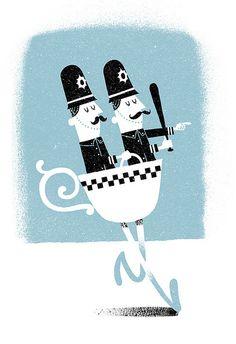 Teacops - Esther Aarts British cops seem so refined!
