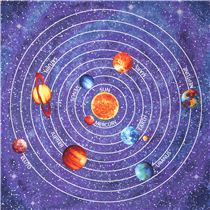 The solar system  the sun and planets including the dwarf