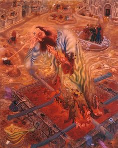 Masterpieces by Egon Schiele and Gustav Klimt, Vienna 1900 and Art Nouveau. Rudolf Hausner, Vienna School Of Fantastic Realism, Giacometti, Cobra Art, Fantastic Art, Awesome Art, Museum, Visionary Art, Gustav Klimt