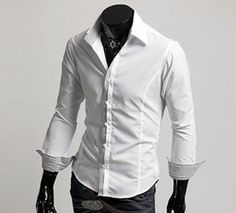 Men's Shirt with Striped Inner Details