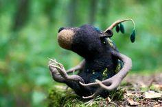 Miszek Felt Animals, Garden Sculpture, Bears, Wool, Outdoor Decor, Design, Bear