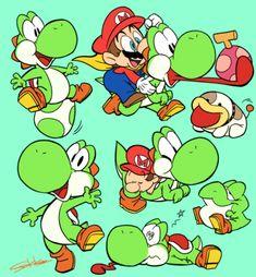 art of sakiko Super Mario Bros, Super Mario World, Super Smash Bros, Nintendo Game, Nintendo Characters, Video Game Characters, Yoshi, Geek Mode, Art Hama