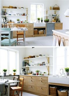 clean Scandinavian style kitchen