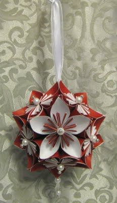 Stamp-n-Design: Kusudama Flower & Ornament ... could use any designer paper for any time of the year ...Stampin' Up!