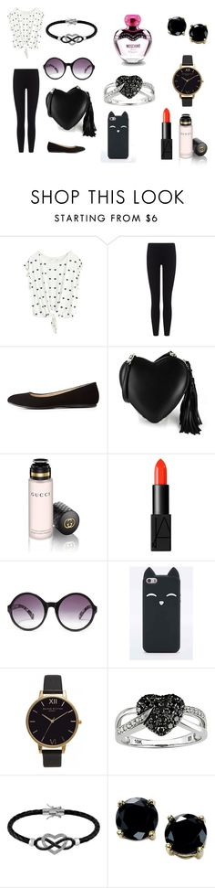 """shopping at Victory secret"" by danbea ❤ liked on Polyvore featuring James Perse, Charlotte Russe, Essentiel, Gucci, NARS Cosmetics, Forever 21, Ice, Jewel Exclusive, B. Brilliant and Moschino"