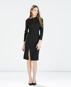 TUBE DRESS WITH TUCKED NECKLINE-Dresses-Woman-COLLECTION SS15 | ZARA United States