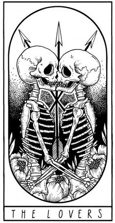Visit the post for more. Tattoo Drawings, Art Drawings, Tarot Card Tattoo, The Lovers Tarot, Witch Tattoo, Major Arcana, Skull Art, Black Tattoos, Dark Art
