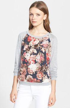 Search for Sanity Floral Print Raglan Sweatshirt (Regular & Petite) available at #Nordstrom