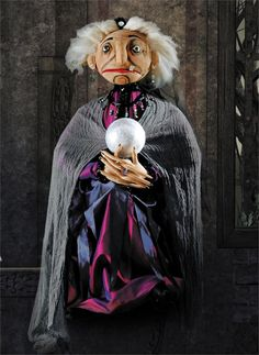 Donka Gypsy Fortune Teller Joe Spencer Halloween. Halloween Fortune Teller Doll at TheHolidayBarn.com