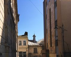 New building next to abandoned synagogue with view on tower historical museum in the old city of Constanța, Romania March 2020 Old City, Romania, Abandoned, Old Things, Tower, March, Museum, Building, Old Town
