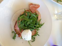 My BLT with tomato chutney, rocket, poached egg on a cheesy sour dough toast from Blu Water Grill