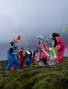 I want to be part of this gang on this rainy day #bjork #iceland #colour