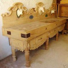 ancien billot de boucher pour cuisine ustensiles de cuisine pinterest billot ancien et. Black Bedroom Furniture Sets. Home Design Ideas